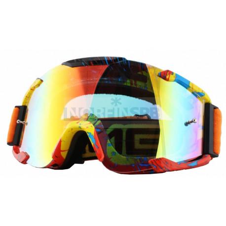 Кроссовая маска B2 RL Goggle SPRAY оранжевая/радиум