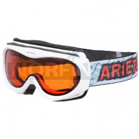 Детская зимняя маска Ariete 4 KIDS, 5-8 лет, белая / оранжевое стекло