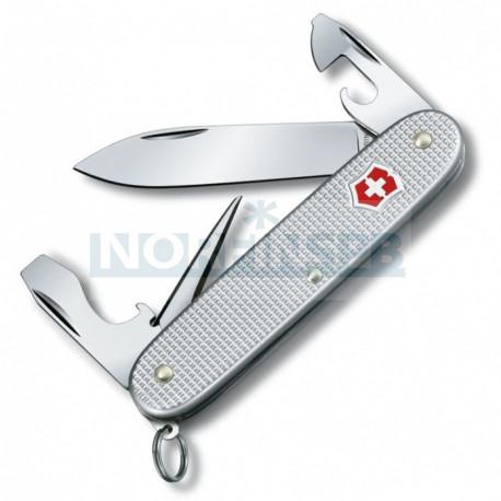 Нож Victorinox Pioneer Alox, 93 мм, 8 функций, серебристый