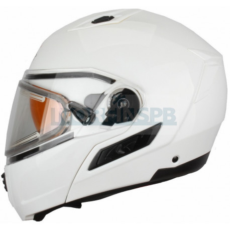 Шлем снегоходный XTR MODE1 (стекло с электроподогревом, термопластик, глянец, белый)