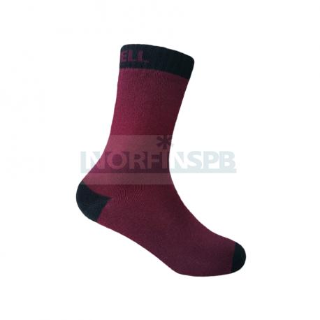 Носки детские водонепроницаемые Dexshell бордовые DS543BB