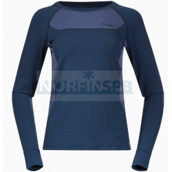 Футболка с длинным рукавом BERGANS Cecilie Wool Long Sleeve, ThunderBlue/Lt ThunderBlue