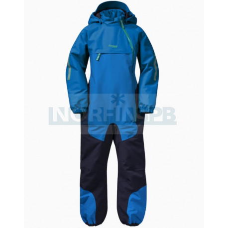 Детский комбинезон BERGANS Lilletind Ins Kids Coverall, StrongBlue/Navy/Greenlake