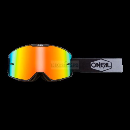 Маска кроссовая O'NEAL B-20 PLAIN,цвет оправы черный, иридиевые линзы, ANTIFOG, с защитой от уфлучей