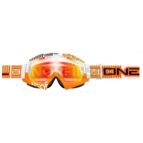 Кроссовая маска O`Neal B-Flex ETR бело-оранж-радиум