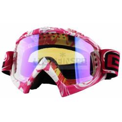 Кроссовая маска O`Neal B-Flex Goggle HENDRIX white/pink/radium