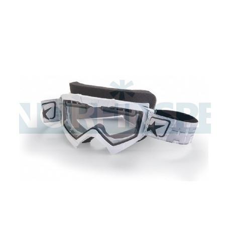 Маска снегоходная Ariete Adrenaline, цвет оправы белый, прозрачная линзы