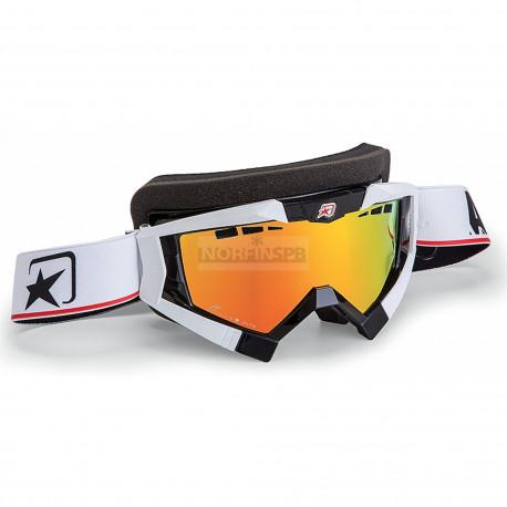 Маска снегоходная Ariete RC Snowmobile Top, цвет оправы белый, красный линзы, ANTIFOG, с защитой от ультрафиолетовых лучей