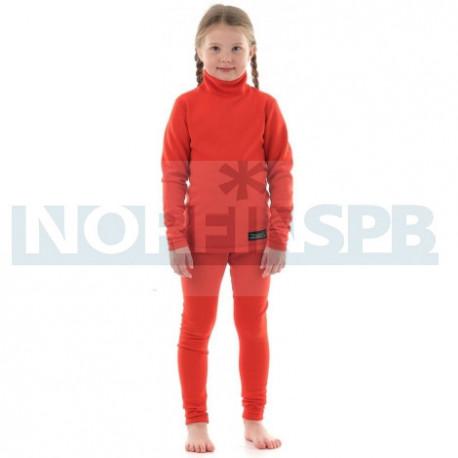 Детское термобелье Dragonfly Зима Polartec высокий ворот Orange