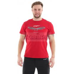 Футболка Dragonfly с принтом Chain MAN (цвет красный)