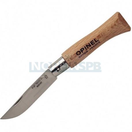 Нож Opinel №4, нержавеющая сталь