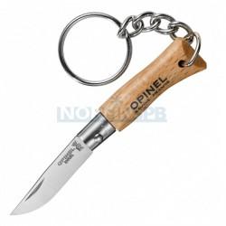 Нож-брелок Opinel №2, нержавеющая сталь, бук