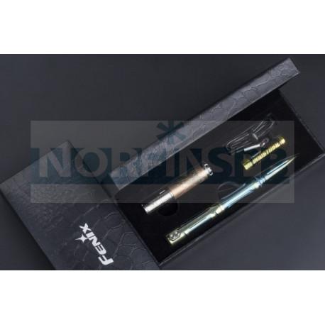 Набор Fenix ручка T5Ti + фонарь F15 серый
