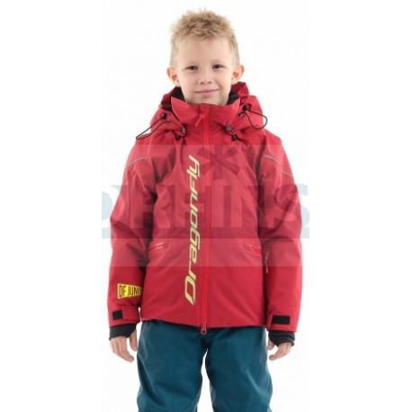 Куртка Dragonfly утепленная Gravity Junior Dark Red - Yellow
