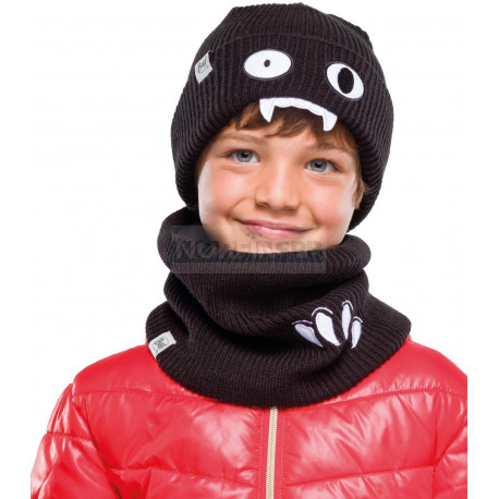 Детская шапка Buff Child Knitted Hat Funn Bat Black