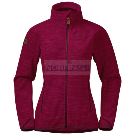 Куртка Bergans Hareid женская флисовая NoHood (ZinfandelRed Mel)