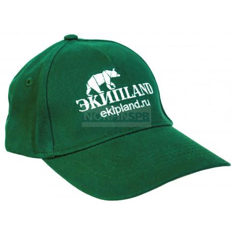 Кепка с фирменным логотипом EkipLand (зеленая)