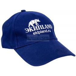 Кепка с фирменным логотипом EkipLand (синяя)