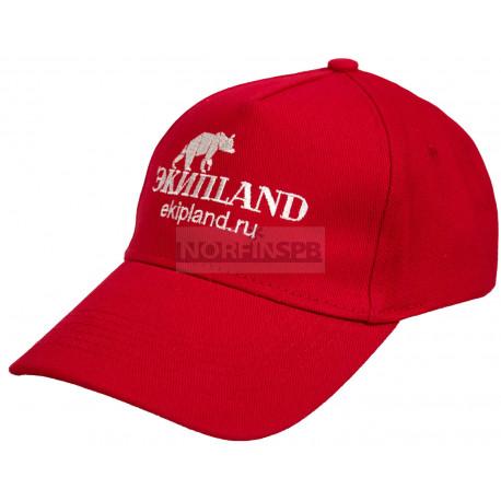 Кепка с фирменным логотипом EkipLand (красная)