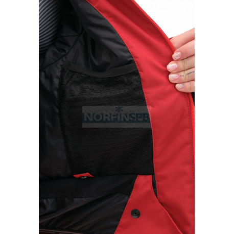 Куртка горнолыжная утепленная Dragonfly  SKI Premium WOMAN Maroon-Red