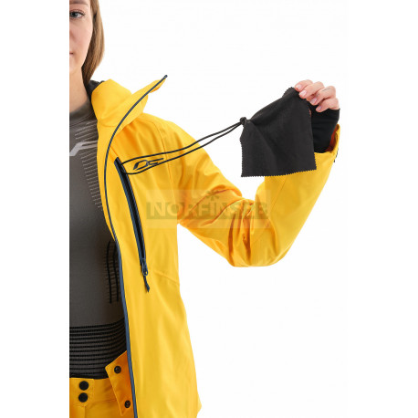 Куртка горнолыжная утепленная Dragonfly SKI Premium WOMAN Yellow-Dark Ocean