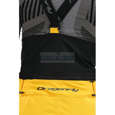 Штаны горнолыжные утепленные Dragonfly SKI Premium WOMAN Yellow-Dark Ocean