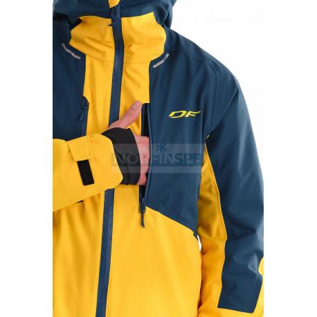 Куртка горнолыжная утепленная Dragonfly SKI Premium MAN Yellow - Dark Ocean