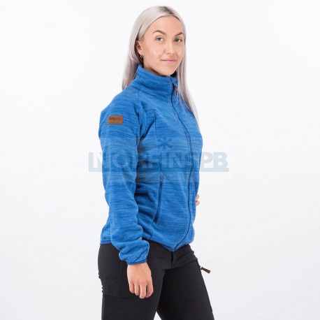 Женская флисовая куртка Bergans Hareid NoHood, Dark Riviera Blue Melange