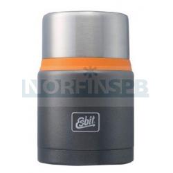 Термос для еды Esbit FJSP c ложкой, темно-серый (оранжевый), 0,75 л