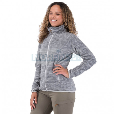 Куртка Bergans Hareid женская флисовая NoHood (Alu Mel)