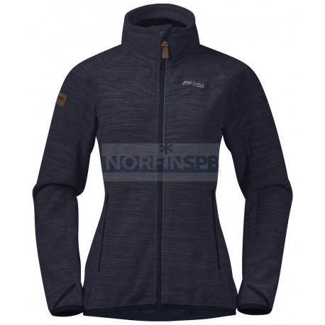 Куртка Bergans Hareid женская флисовая NoHood (Dk Navy Mel)