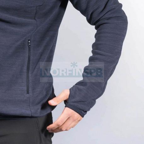 Куртка Bergans Hareid мужская флисовая NoHood (Dk Navy Mel)