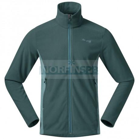 Флисовая куртка BERGANS Finnsnes Fleece Jacket, Forest Frost/ Light Forest Frost