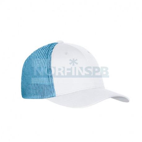 Бейсболка Mark, белый/голубой