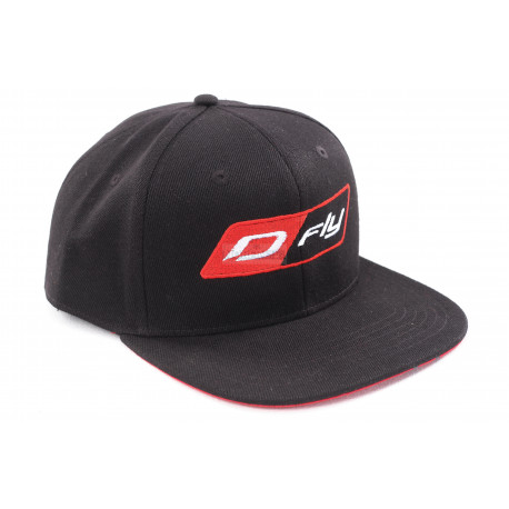 Бейсболка Dragonfly Modern Black-Red. D-fly (Прямой козырек)