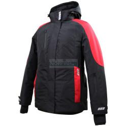 Куртка женская зимняя Brodeks KW 208, черный/красный