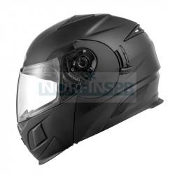 Шлем модуляр ZEUS ZS-3020, термопластик ABS, мат., съемная подкладка, черный