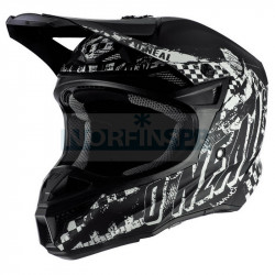 Шлем кроссовый O'NEAL 5Series RIDER, термопластик ABS, мат., с выкидными щеками, черный/белый