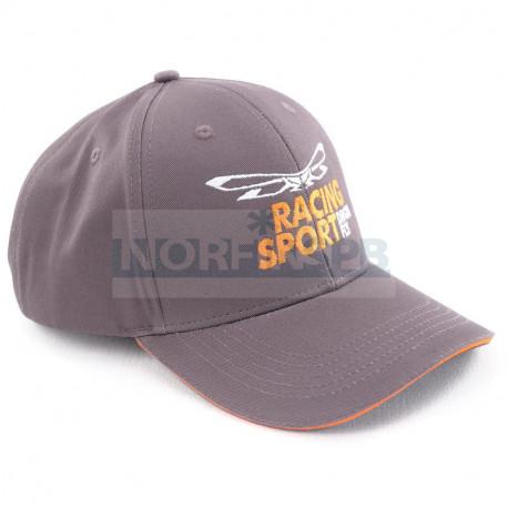 Бейсболка Dragonfly Classic Grey-Orange. Racing Sport (Изогнутый козырек)