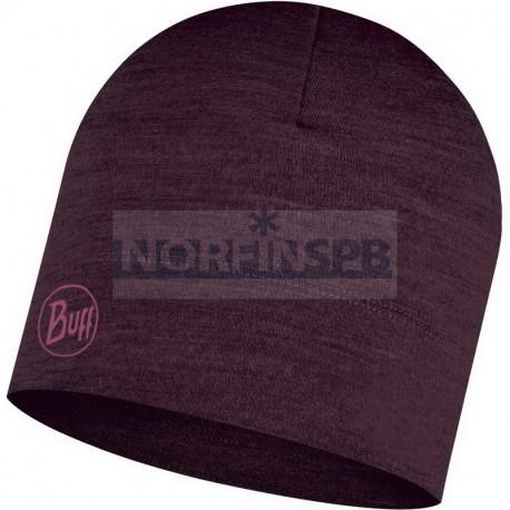 Шапка Buff Midweight Merino Wool Hat Solid, Deep Purple