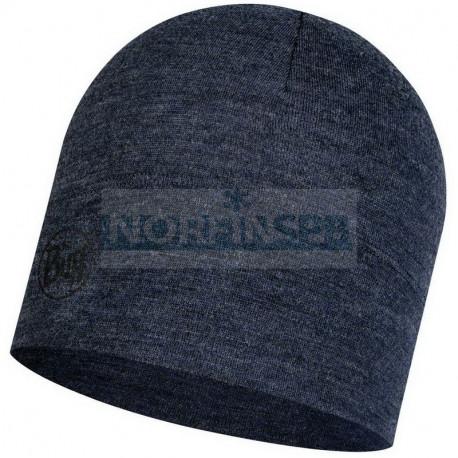 Шапка Buff Midweight Merino Wool Hat, Night Blue Melange
