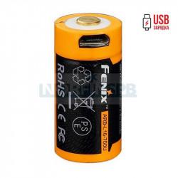 Аккумулятор Li-ion Fenix ARB-L16-700U 16340 с разъемом для USB