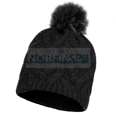 Женская шапка Buff Knitted and Fleece Band Hat Caryn, Graphite