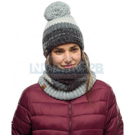 Шапка Buff Knitted and Fleece Band Hat Alina, Grey