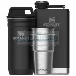 Набор стопок STANLEY Adventure 59ML с флягой 0,23L, черный