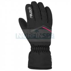 Перчатки горнолыжные REUSCH 2021-22 Marisa, черный/белый/розовый