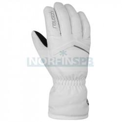 Перчатки горнолыжные REUSCH 2021-22 Marisa, белый/серебряный