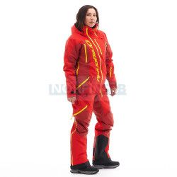 Комбинезон утепленный Dragonfly Extreme Woman, Red-Yellow