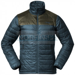 Куртка мужская пуховая Bergans Roros Box Down Light Jacket, Orion Blue/Green Mud