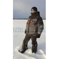 Костюм рыболовный Graff зимний до -50 (Bratex 8000, черно-серый)
